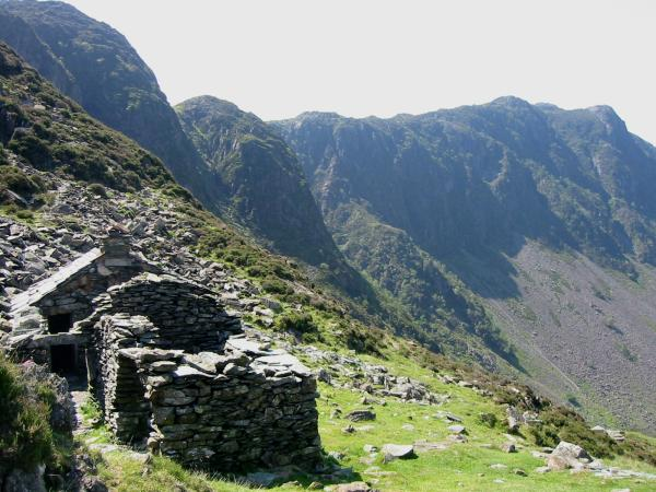 Haystacks from a old quarry hut, now a bothy
