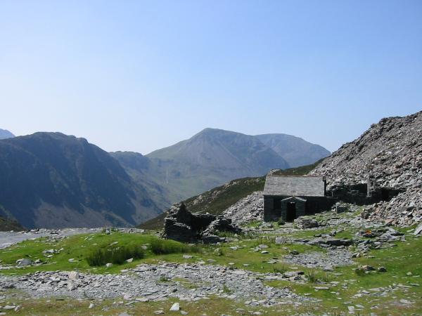 Haystacks, High Crag and High Stile from Dubs Hut (Bothy)