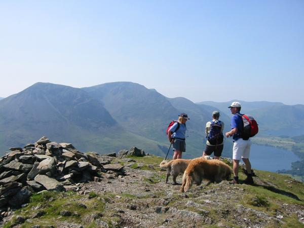 High Crag and High Stile from Fleetwith Pike's summit