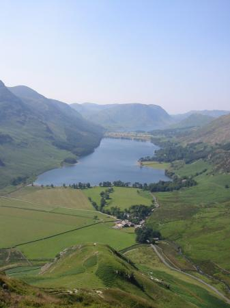 Buttermere valley from the descent of the ridge