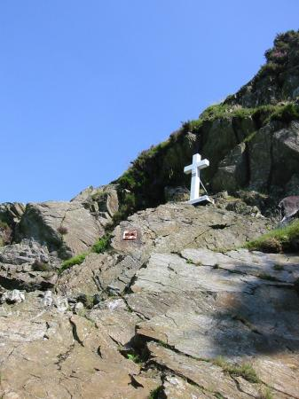 Memorial to Fanny Mercer who died from a fall while descending Fleetwith Pike in 1887