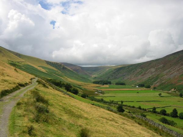 The valley of the River Caldew