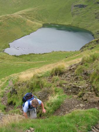 Ascending from the tarn