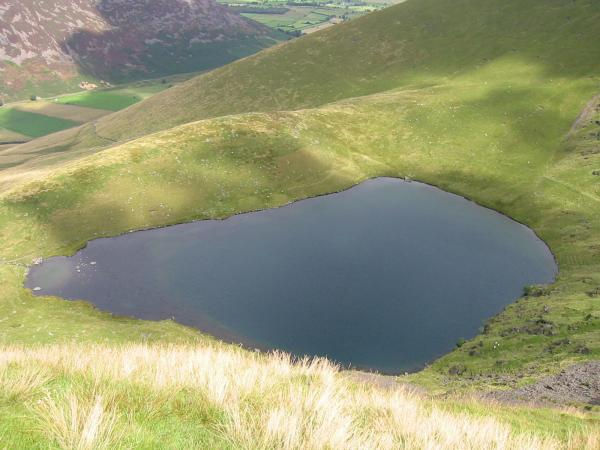 Looking down on Bowscale Tarn