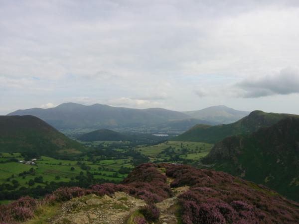 Skiddaw, Blencathra and Catbells from Scope End
