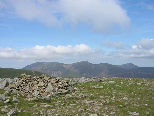 The Grasmoor group from Hindscarth's summit