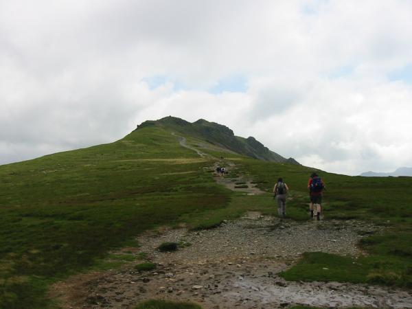 Heading along Hindscarth Edge to Dale Head