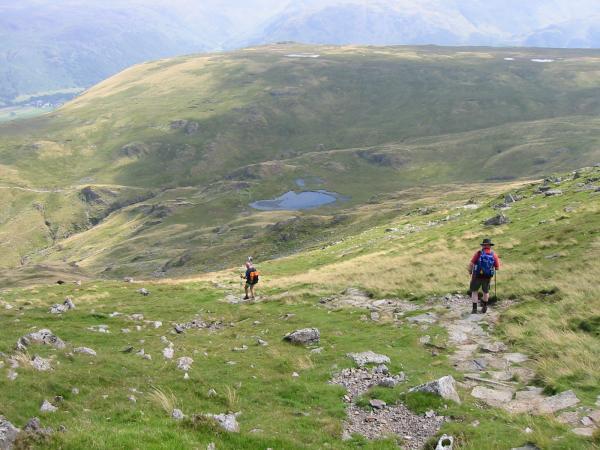 Descending to Dale Head Tarn