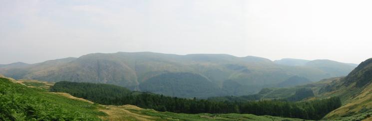 The Helvellyn ridge and Fairfield