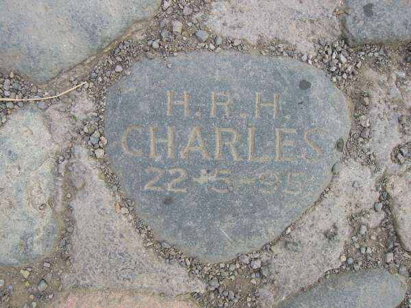 Stone layed by Prince Charles when the bridge was repaired to commemorate the centenary year of the National Trust