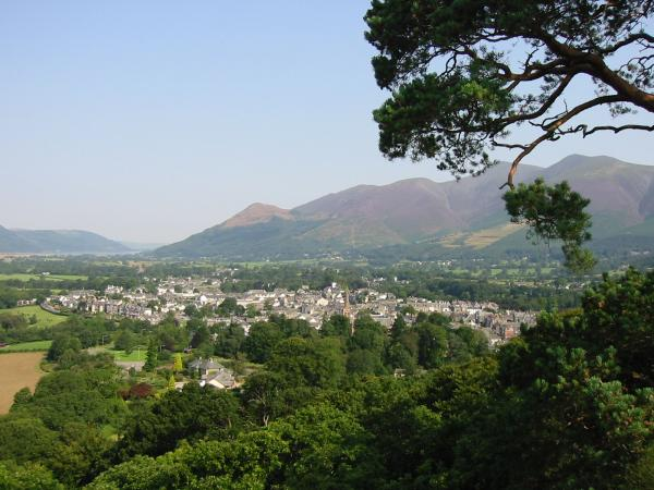 Keswick and Skiddaw from Castle Head