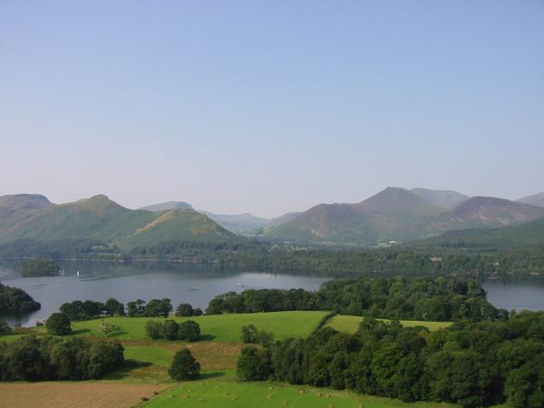 Catbells and Causey Pike from Castle Head