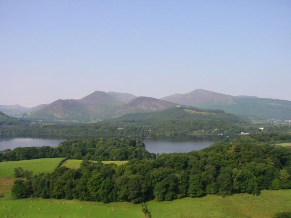 Causey Pike, Barrow and Grisedale Pike from Castle Head