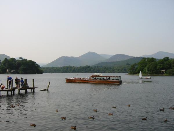 Causey Pike from Keswick landing stages