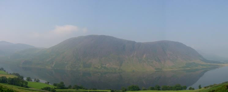 Looking across Crummock Water to Mellbreak