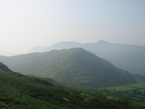 Rannerdale Knotts with the High Stile ridge behind
