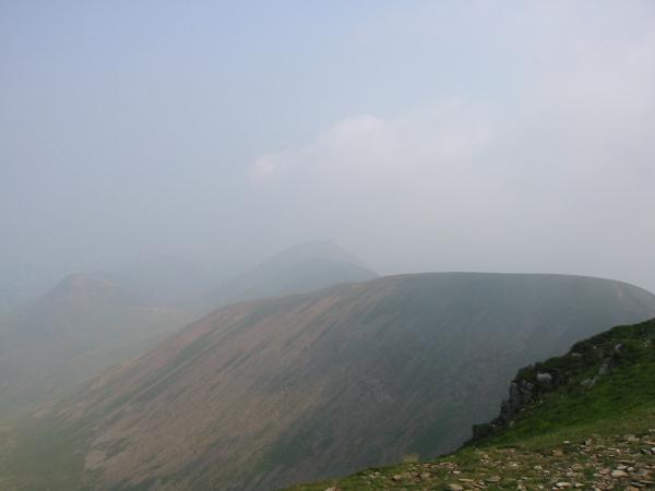Sail with Outerside and the Causey Pike ridge just visible through the haze