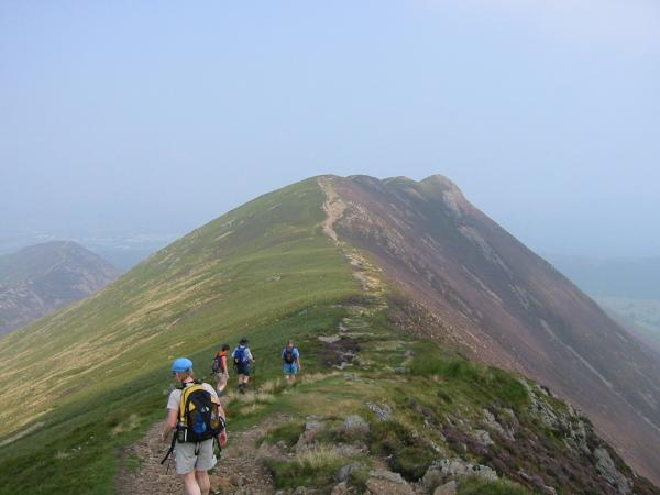 Heading for Causey Pike