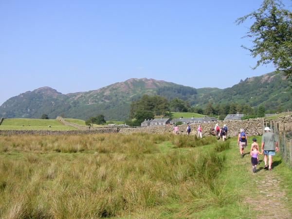 Heading for Rosthwaite with Grange Fell ahead
