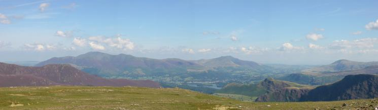 Skiddaw and Blencathra from Robinson