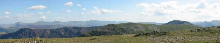 The Helvellyn ridge from Robinson