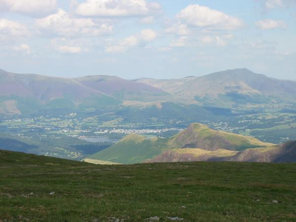 Catbells with Blencathra behind from Hindscarth