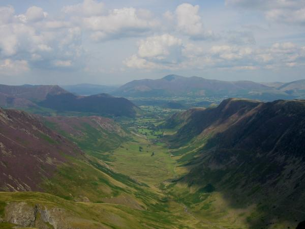 Newlands valley from Dale Head's summit