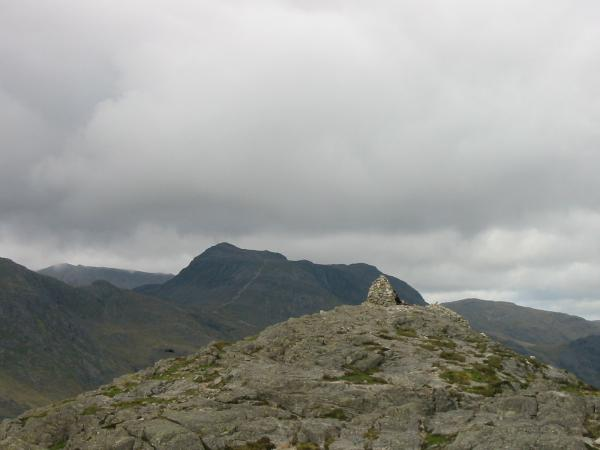 Bowfell from Pike O' Blisco's summit