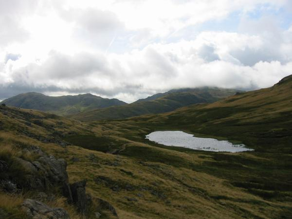 Looking down on Red Tarn