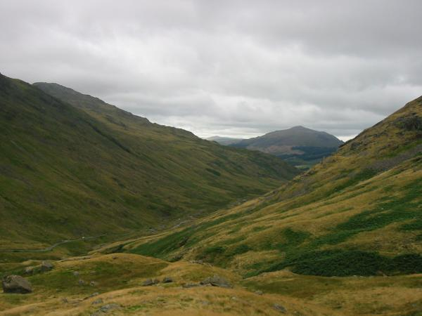 Looking west to Harter Fell fom the descent back to Wrynose Pass