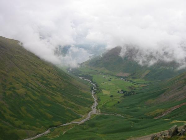 Wasdale Head from the traverse