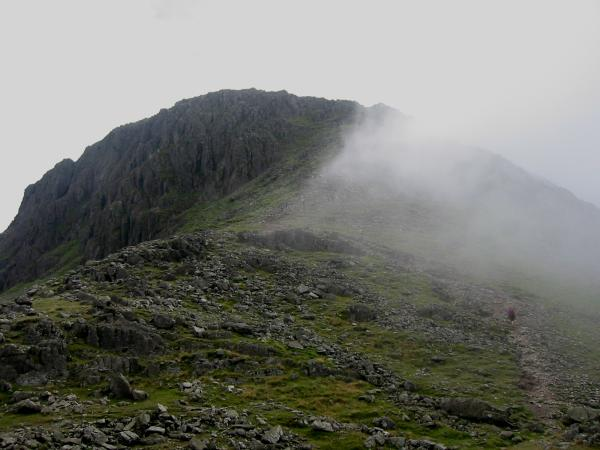 Gable Crag and the route up Great Gable from Beck Head