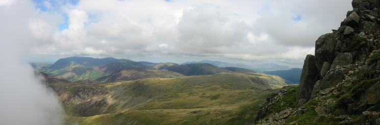 The northwestern fells from the ascent