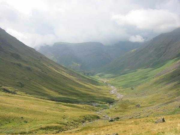 Looking down the valley towards Wasdale Head
