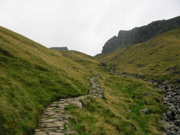 The Brown Tongue route up to Hollow Stones