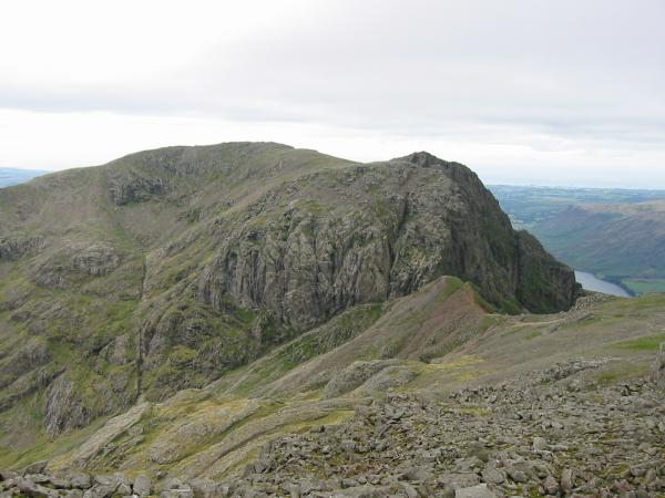 Scafell and Mickledore from Scafell Pike's south peak