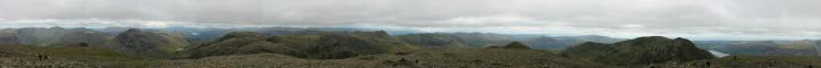 360 Panorama from Scafell Pike's summit