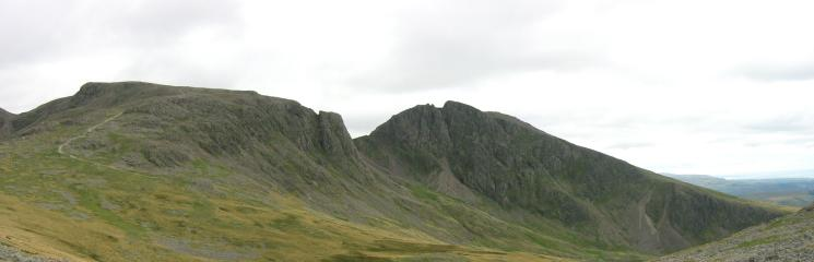 Scafell Pike and Scafell from Lingmell