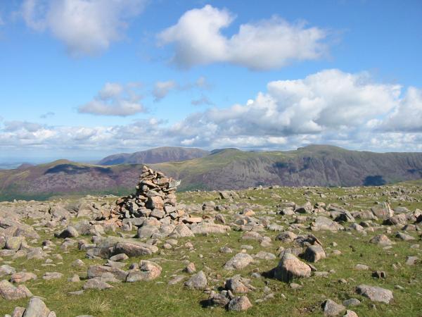 Caw Fell summit cairn