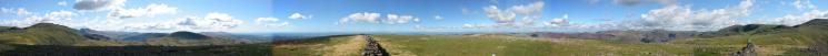 360 Panorama from Caw Fell's summit