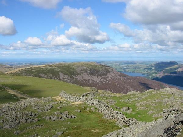 Looking back to Iron Crag from Little Gowder Crag