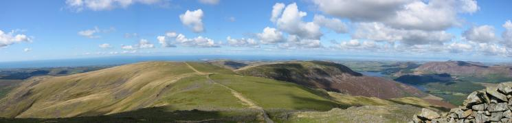 Westerly panorama from Little Gowder Crag