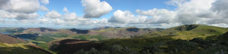 Northerly panorama from Little Gowder Crag