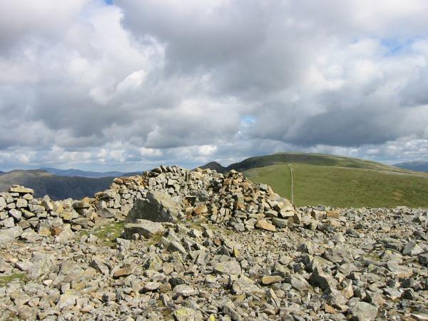Haycock summit cairn