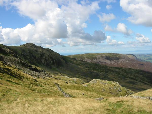 Little Gowder Crag and Iron Crag from the descent