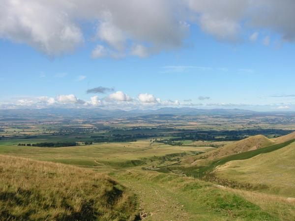 Looking west across the Vale of Eden to the Lakeland Fells