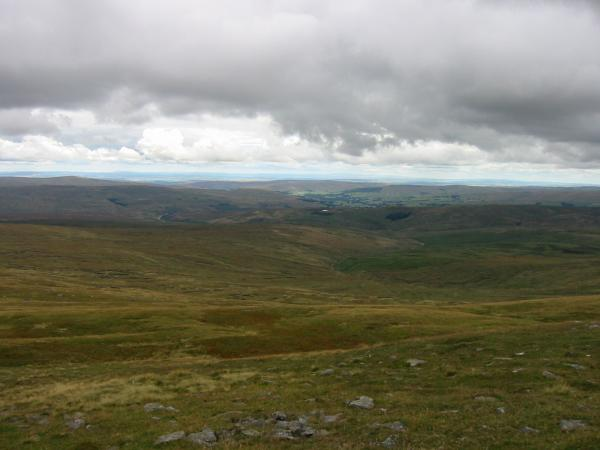 The bleak view to the north of Cross Fell