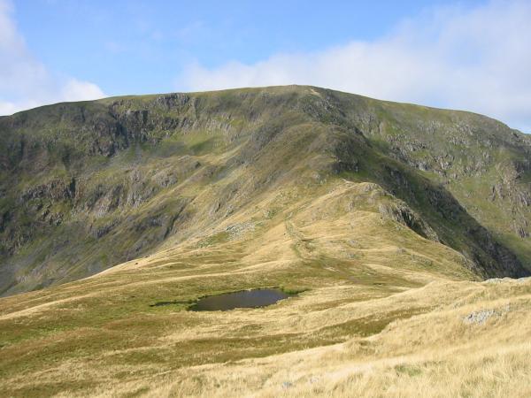 Caspel Gate Tarn and the Long Stile ridge onto High Street's summit