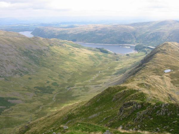 Looking down into Riggindale
