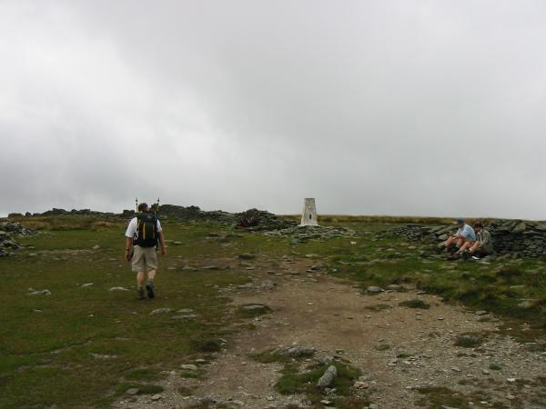 Approaching High Street's summit trig point